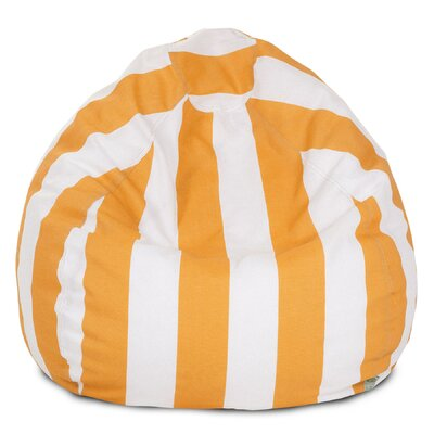 Stripes Bean Bag Chair Upholstery: Yellow