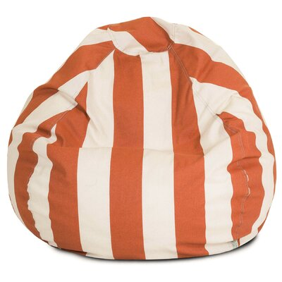 Stripes Bean Bag Chair Upholstery: Burnt Orange