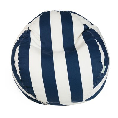 Stripes Bean Bag Chair Upholstery: Navy Blue