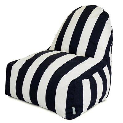 Stripes Bean Bag Lounger Upholstery: Black