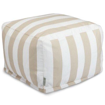 Dazelle Stripe Ottoman Color: Sand