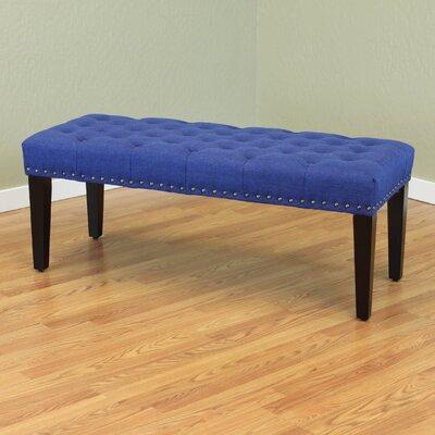 Mapletown Upholstered Bench Color: Deep Blue
