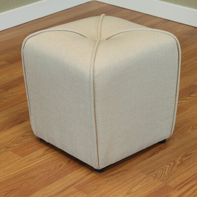 Mapletown Upholstered Ottoman Color: Ivory