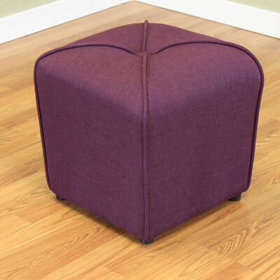 Mapletown Upholstered Ottoman Color: Wine Red