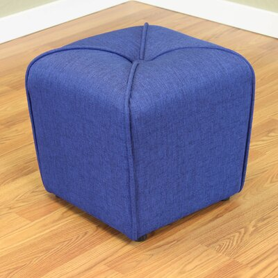 Mapletown Upholstered Ottoman Color: Deep Blue