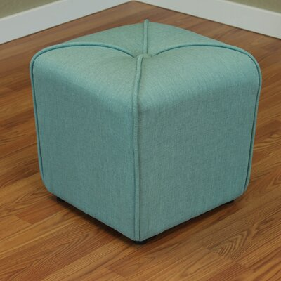 Mapletown Cube Ottoman Color: Sea Green