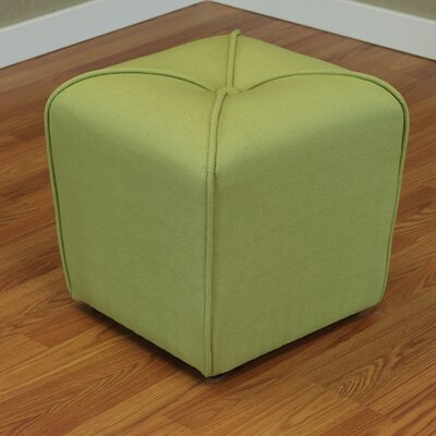 Mapletown Upholstered Ottoman Color: Apple Green