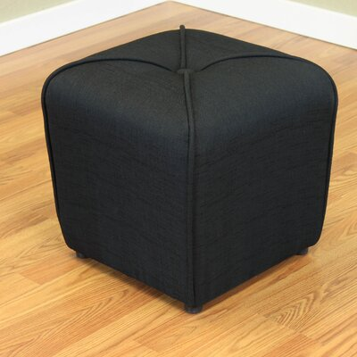 Mapletown Upholstered Ottoman Color: Black
