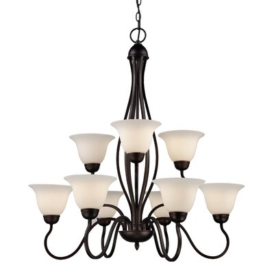 Bloomington 9-Light Shaded Chandelier
