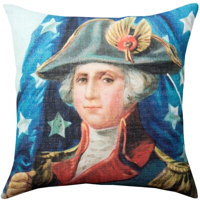Alton George Washington Burlap Throw Pillow Size: 16 H x 16 W x 6 D