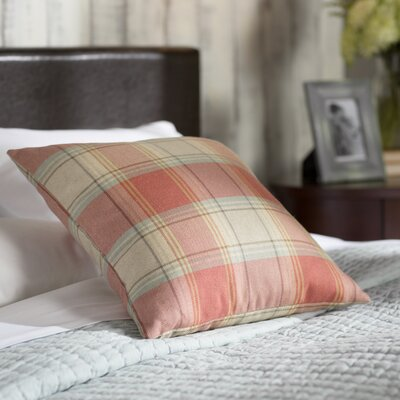 Douglas Plaid Cotton Throw Pillow Size: 18 X 18