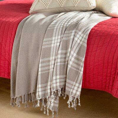 Southington 100% Cotton Throw Blanket Color: Grey