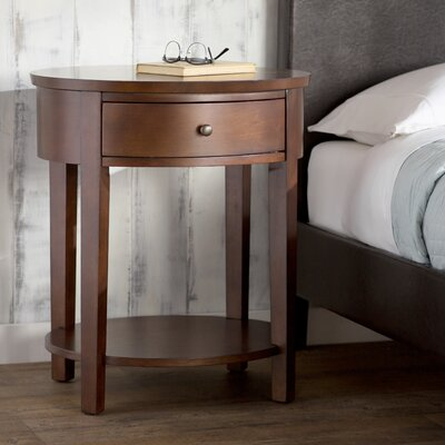 Canterbury End Table with Storage Color: Espresso