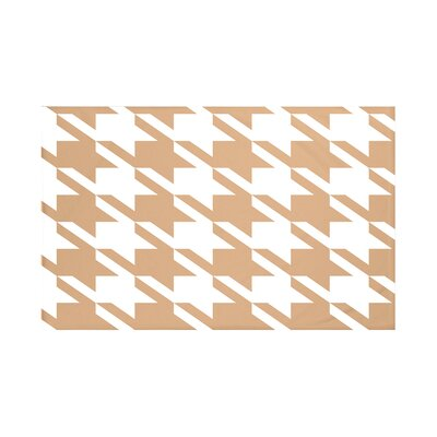 Bryant Geometric Print Throw Blanket Size: 60 L x 50 W, Color: Caramel (Brown)