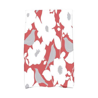Modfloral Hand Towel Color: Coral