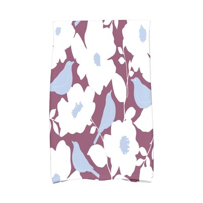 Modfloral Hand Towel Color: Purple
