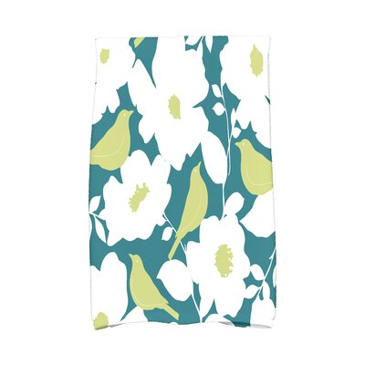 Modfloral Hand Towel Color: Teal