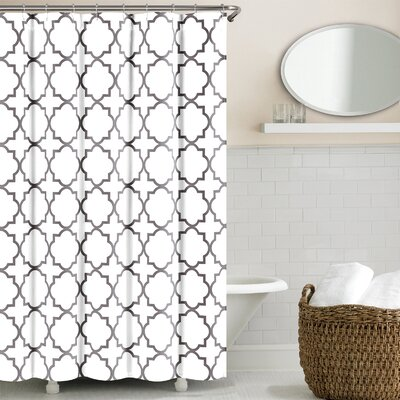 Prattsburgh Cotton Shower Curtain Color: Zinc