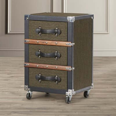 Ghent 3 Drawer Rolling Chest