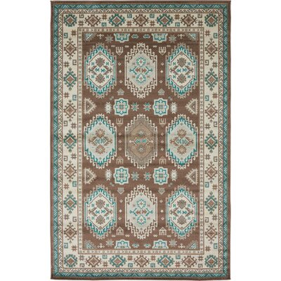 Bowerston Brown Area Rug Rug Size: 5 x 8