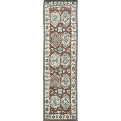 Bowerston Brown Area Rug Rug Size: Runner 3 x 10