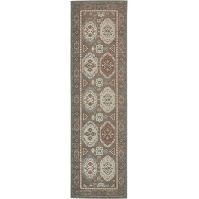 Angie Gray Area Rug Rug Size: 5 x 8