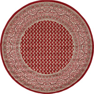 Angie Red Area Rug Rug Size: Rectangle 4 x 6