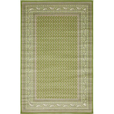 Toni Geometric Green Area Rug Rug Size: Rectangle 5 x 8