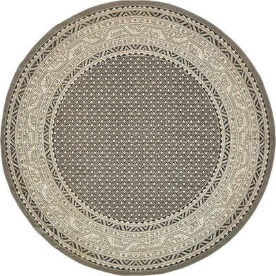 Bowerston Gray Area Rug Rug Size: Round 8
