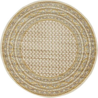 Angie Beige Area Rug Rug Size: 8 x 10