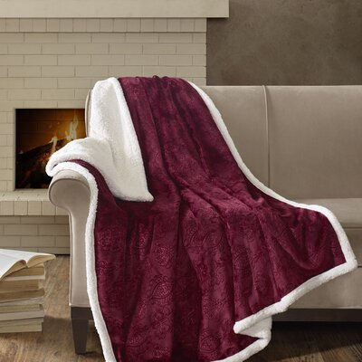 Bramblecrest Oversized Plush Throw Color: Burgundy