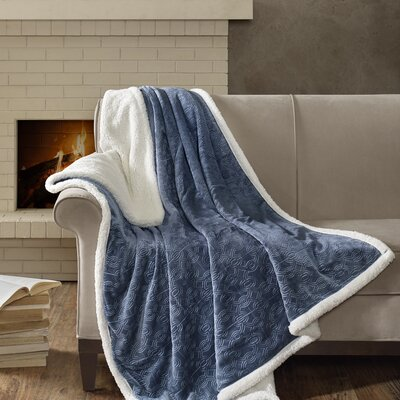 Bramblecrest Oversized Plush Throw Color: Blue