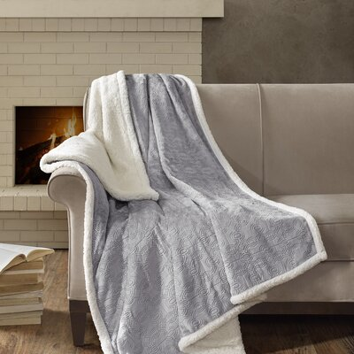 Bramblecrest Oversized Plush Throw Color: Gray
