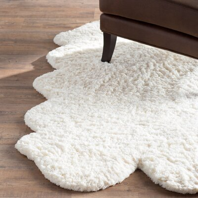 Griffith Pelt Faux Hand Tufted Natural Area Rug