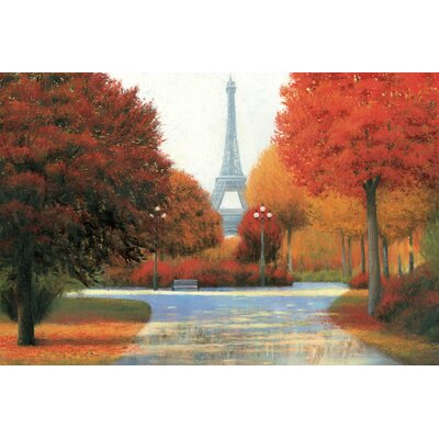 Autumn In Paris Painting Print on Wrapped Canvas