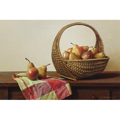 Still Life With Pears Photographic Print on Wrapped Canvas