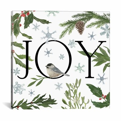 Peace and Joy Graphic Art on Wrapped Canvas Size: 12