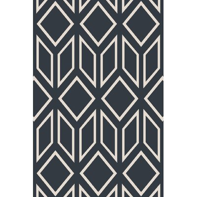 Hardman Navy Geometric Area Rug Rug Size: Rectangle 33 x 53