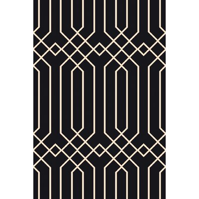 Rainsburg Black Geometric Area Rug Rug Size: 33 x 53