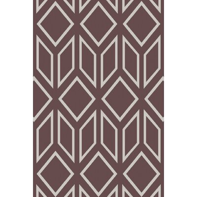 Hardman Hand-Tufted Chocolate/White Area Rug Rug Size: Rectangle 33 x 53
