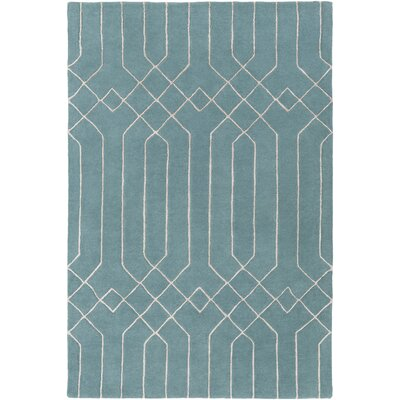 Rainsburg Hand-Tufted Teal Area Rug Rug Size: Runner 26 x 8