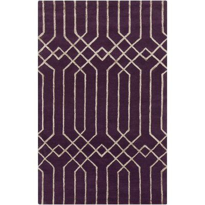 Rainsburg Hand-Tufted Purple Area Rug Rug Size: 33 x 53
