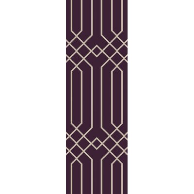 Rainsburg Hand-Tufted Purple Area Rug Rug Size: Runner 26 x 8
