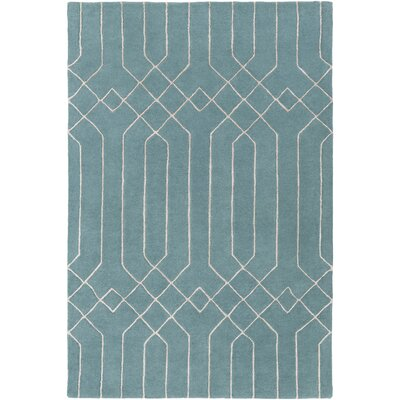 Rainsburg Hand-Tufted Teal/Taupe Area Rug Rug size: Rectangle 2 x 3