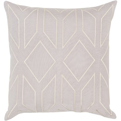 Ganley 100% Linen Throw Pillow Cover Color: Neutral, Size: 18