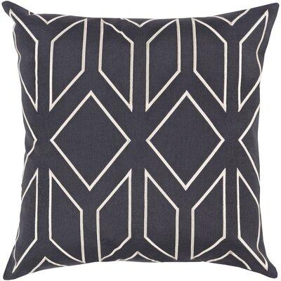 Ganley 100% Linen Throw Pillow Cover Color: NavyIvory, Size: 20