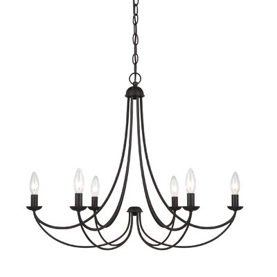 Buckland Candle-Style Chandelier Size: 6 Light