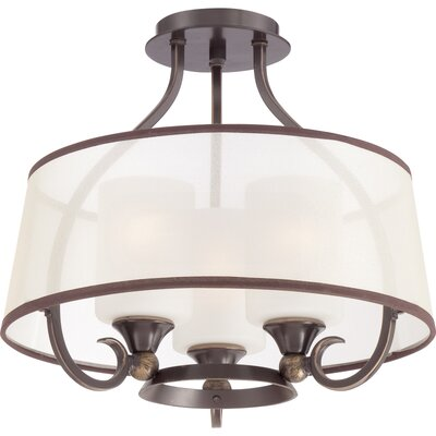 Aaron 3-Light Semi-Flush Mount