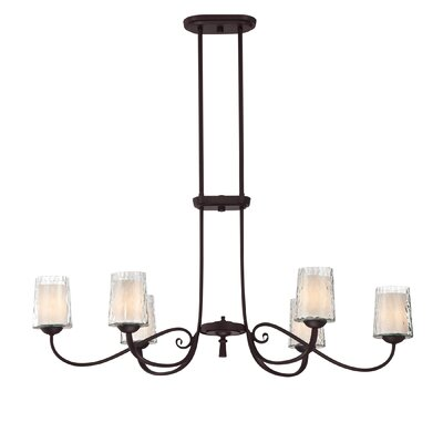 Bordelon 6-Light Kitchen Island Pendant