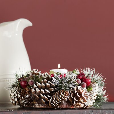 Pinecone Candle Wreath Centerpiece